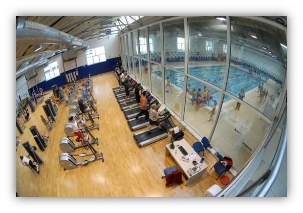 hostel gym and pool